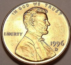 United States Unc 1996-D Lincoln Memorial Cent~Free Shipping - $2.17