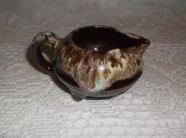 brown drip ware small creamer - $9.90