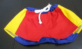 """The Bear Factory Red Yellow & Blue Shorts Trunks With Drawstring Waist Fits 16"""" - $7.91"""