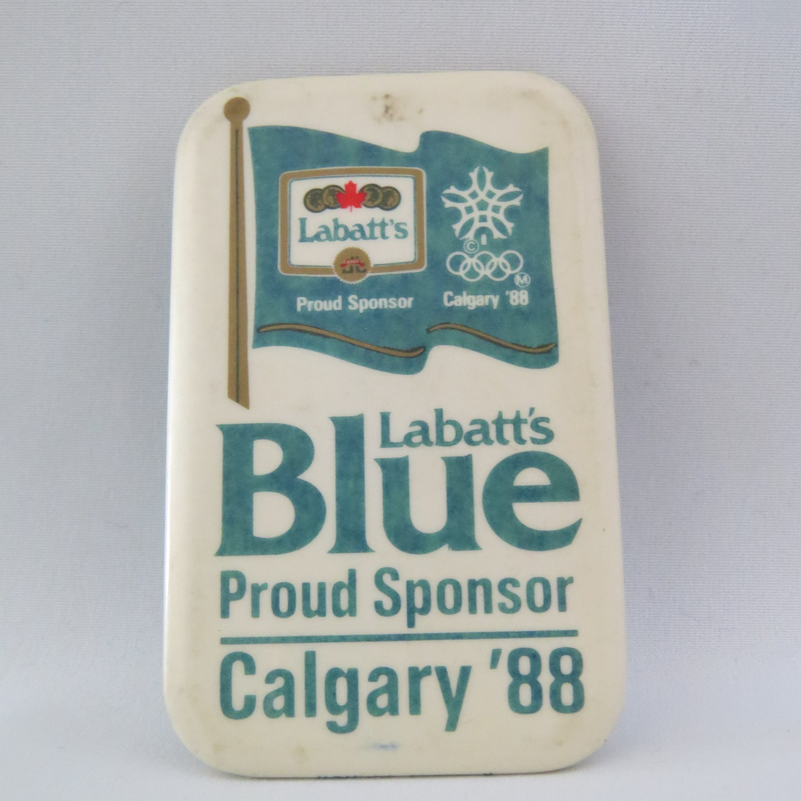 Primary image for 1988 Winter Olympic Games - Labatt's Blue Sponsor Pin - Calgary Canada 1988