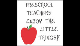 Preschool Teacher Magnet Quote, Pre-K, nursery school educators, red apple - $3.95