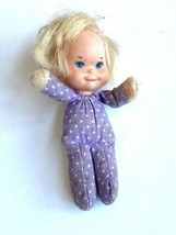 Vintage 1975 Mattel Honey Hill Bunch Baby Doll Girl Mini Plush Purple Po... - $12.86