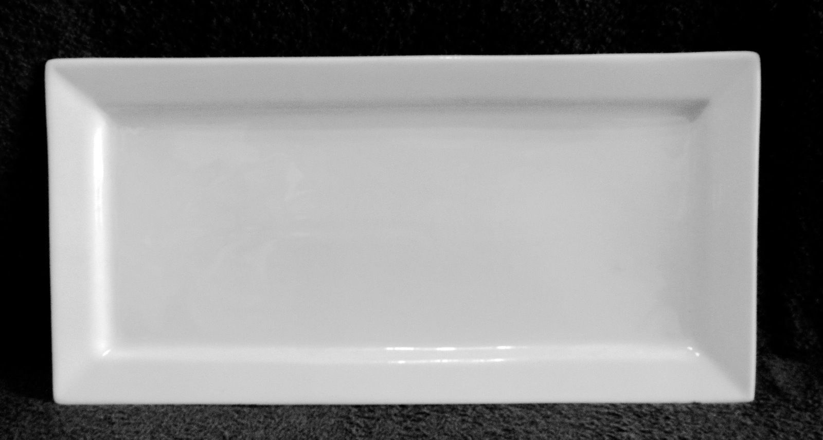 White Cameo Durable China Rectangle Serving Platter Restaurant Ware