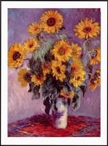 Still Life Sunflowers By Claude Monet Canvas Art Print - $19.58