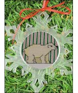 Small Clear Snowflake plastic acrylic christmas ornament 5 1/2 inch Yarn... - $2.50