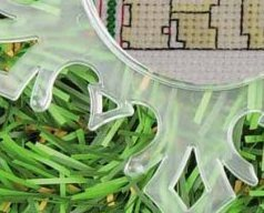 Small Clear Snowflake plastic acrylic christmas ornament 5 1/2 inch Yarn Tree