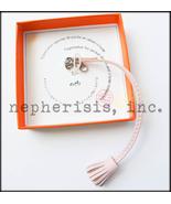 NWB Hermes Carmencita PM Carmen Pompom Bookmark Bag Charm Lambskin ROSE ... - $230.00
