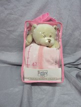 GANZ PINK BABY GIRL PLUSH TEDDY BEAR GROWTH CHART  - NEW IN PACKAGE - $14.99