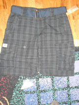 Lee Men's Belted Plaid Cargo Shorts NEW Sz 32 - $17.99