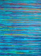 Water 24 x 36 Fine Art Giclee Blue Ocean Lake A... - $180.00