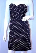 H&M Bustier SLEEVELESS Dress BACK Slit POLKA Bl... - $99.97