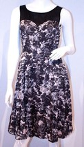H&M Black & White FLORAL Sheer DRESS with POCKE... - $99.97