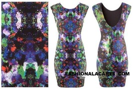 H&M Fit-Jersey DIGITAL Print DRESS Kaleidoscopi... - $69.27