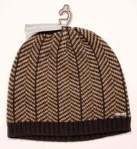 MICHAEL KORS Army Black BEANIE Winter CAP Hat HEADWEAR Gunmetal Logo WOO... - $69.27