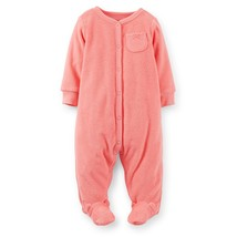 Carters 3 Months French Terry Sleep & Play Baby Girl Clothes Footie Pajamas - $15.00