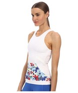 ADIDAS by STELLA McCARTNEY White FLORAL Racer T... - $69.27