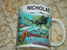Ripley's Aquarium of The Smokies Personalized Coffee Cup Name Nicholas - $12.00