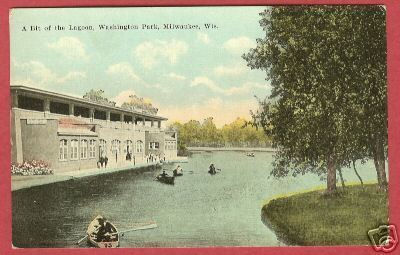 Primary image for MILWAUKEE WI Washington Pk Lagoon Boats Wisconsin