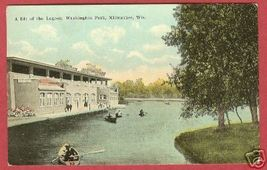 MILWAUKEE WI Washington Pk Lagoon Boats Wisconsin - $10.00