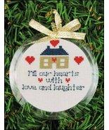 Clear 3 1/2 inch round acrylic ornament frame Y... - $2.50