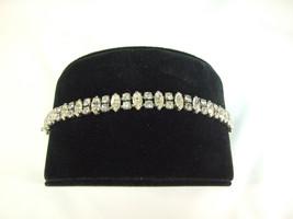 Vintage WEISS Rhinestone Bracelet 2 strings of Rhinestones ~ Signed - $70.13