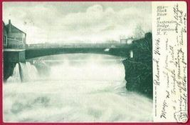 WATERTOWN NEW YORK Black River Bridge UDB 1906 - $10.00