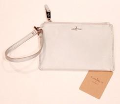 COLE HAAN Wallet ZIP Flat POUCH Silver WRISTLET Interior POCKET Logo $68 - $49.47