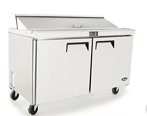 """Atosa Usa MSF8303 Stainless Steel Sandwich Prep Table 60"""" 2-Door Refrigerator - $2,067.00"""