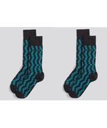 BOSS Hugo Boss SET OF 2 Dress Socks SQUARE Geom... - $60.83