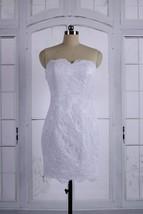 Short Sweetheart Backless White Lace Bridesmaid Reception Wedding Dresses 2017 - $98.00