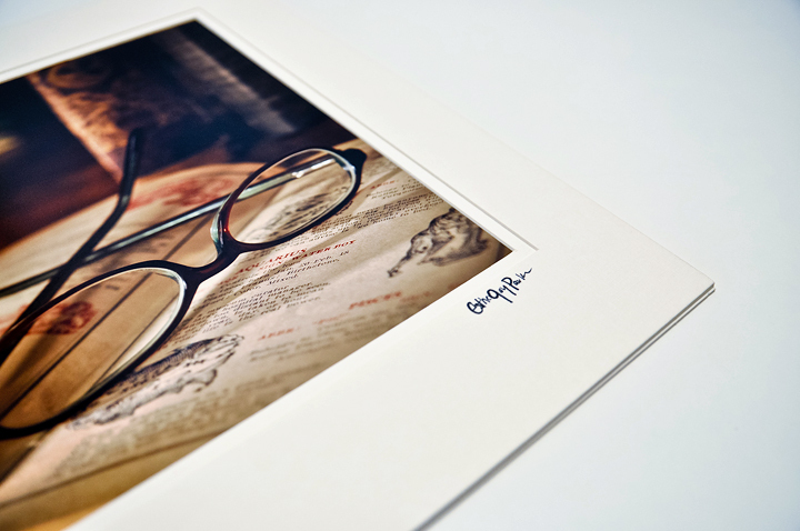 'Read' (Glasses & Book,library/office) Fine Art Print -8x10 print matted to11x14