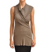 RICK OWENS LILIES Jersey TOP Shirt DNA DUST Crossed NECKLINE Draped $250 - $197.97