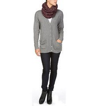 MICHAEL STARS Mohair Blend COWLNECK SCARF Cable KNIT 100% Acrylic ONE SIZE - £42.72 GBP