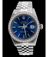 Perpetual Rolex gents blue stick dial watch SS ... - $3,655.46