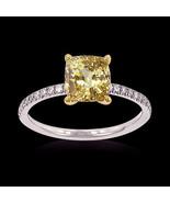 Anillo de diamantes de oro y canario bicolor 1,... - $2,515.52