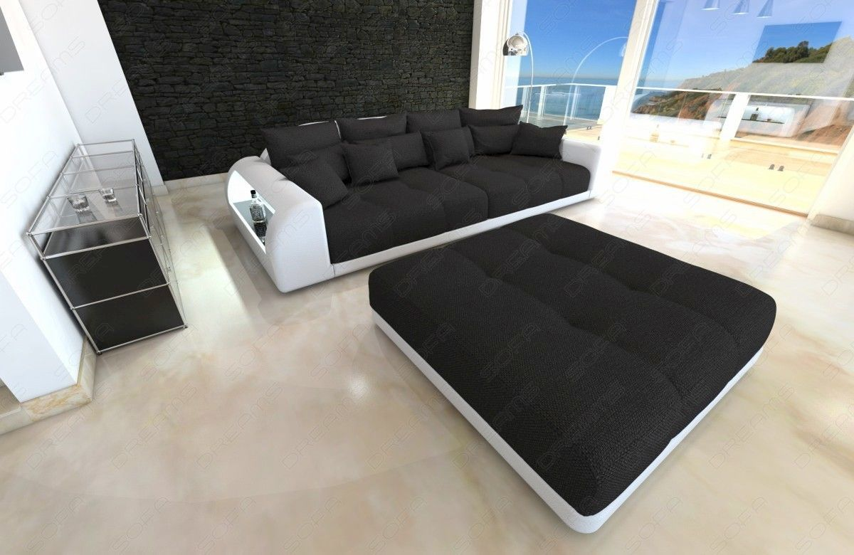 xxl big sectional sofa bed miami with led lights rgb colour selection sofas loveseats chaises. Black Bedroom Furniture Sets. Home Design Ideas