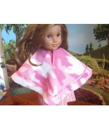 "homemade 18"" american girl/madame alexander pink camo poncho doll clothes - $15.84"
