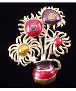 Vintage Avon Impressionists Flower pin brooch g... - $20.00