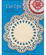 Wood Lace Ornament A Cut Up cross stitch finish... - $5.00