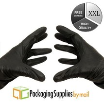400 Pcs Black Nitrile Exam Glove 4 Mil Powder Free Non Latex Vinyl 2XLarge - $29.74