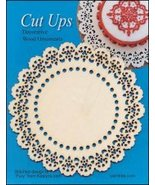 Wood Lace Ornament C Cut Up cross stitch finish... - $5.00