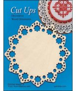 Wood Lace Ornament E Cut Up cross stitch finishing accessory Yarn Tree  - $5.00