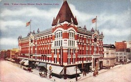 DENVER, Colorado CO    TABOR OPERA HOUSE BLOCK Street Scene  ca1910's Po... - $4.86