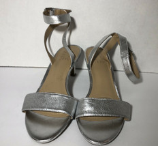 Naturalized Womens pruce Open Toe Casual Ankle Strap Sandals, Silver, Size 7.5 - $37.40
