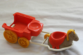 Vintage 1974 Weebles Western Horse & Cart Replacement Pieces - $19.99