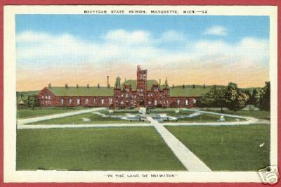 Primary image for Marquette MI State Prison Northern Linen Postcard BJs