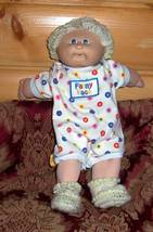 Cabbage Patch Kids Coleco Blonde Curls #4 Fanny Face Silly Onesie Outfit Orphan - $5.99