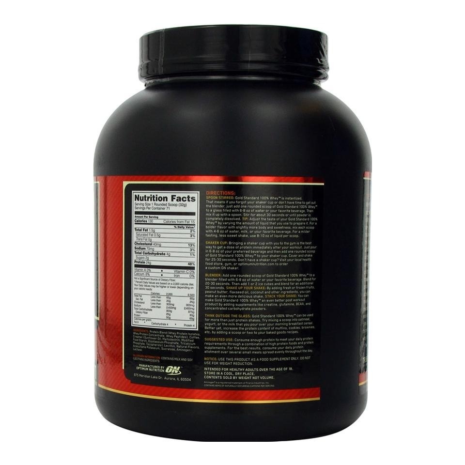 ON (Optimum Nutrition) Gold Standard 100% Whey Protein, 5 lb Coffee image 2