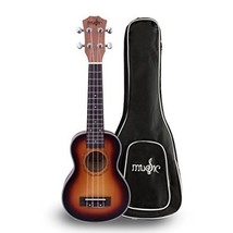 Soprano Ukulele Matte Sunburst Finish with GIg Bag Mahogany Top Rosewood... - $65.33
