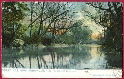 ASHEVILLE NORTH CAROLINA Swannanoa River TUCK 1912 NC